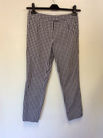JACK WILLS BLACK & WHITE GINGHAM CAPRI PANTS SIZE 6