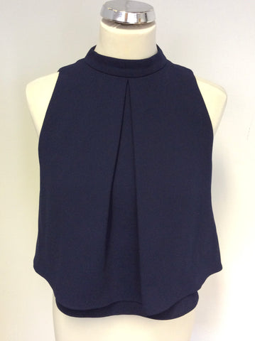 BRAND NEW COAST CASTER NAVY BLUE SLEEVELESS TOP SIZE 8