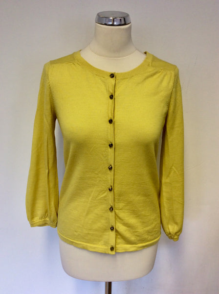 BODEN YELLOW WOOL CARDIGAN SIZE 10