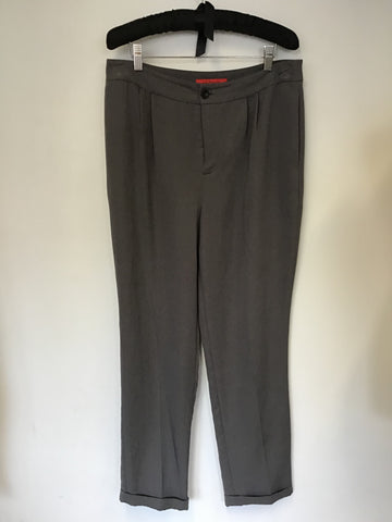 LK BENNETT DARK GREY LIGHT WEIGHT TROUSERS SIZE 12