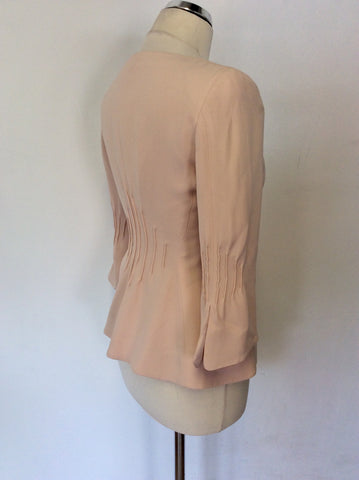 ARMANI COLLEZIONI PALE PEACH / NUDE SILK SPECIAL OCCASION JACKET SIZE 42 UK 10
