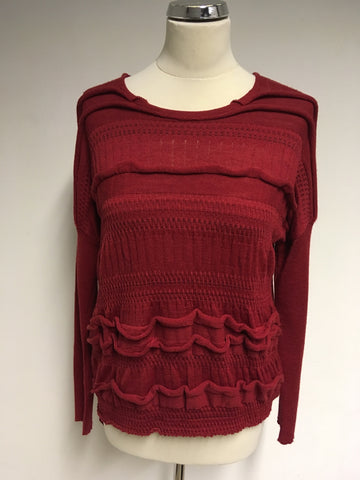 BRAND NEW LAUREN VIDAL RED BUTTON REAR FASTEN JUMPER SIZE XXL