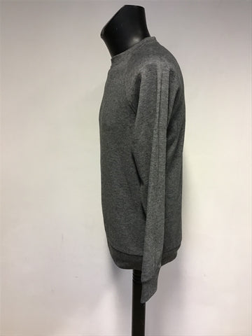 REISS DARK GREY MARL LONG SLEEVE SWEATSHIRT SIZE M