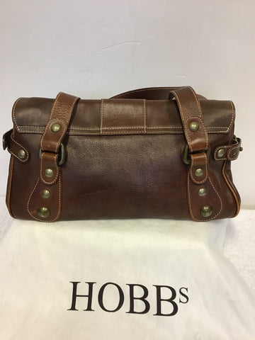 HOBBS CHESTNUT BROWN LEATHER SHOULDER BAG