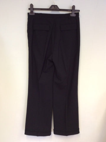 AUSTIN REED DARK BLUE WOOL TROUSER SUIT SIZE 8/12