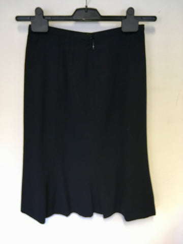 JIGSAW NAVY BLUE WOOL BLEND A LINE SKIRT SIZE 8