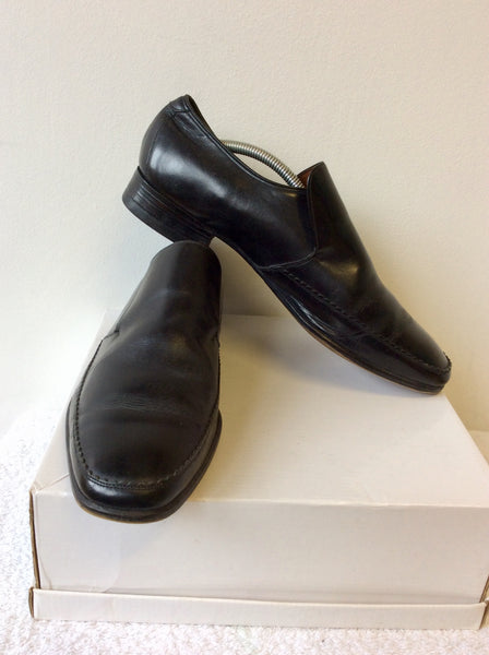 BARKER BLACK LEATHER SLIP ON SHOES SIZE 9.5/43.5