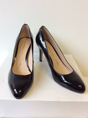 BRAND NEW MODA IN PELLE BLACK PATENT LEATHER HEELS SIZE 4/37