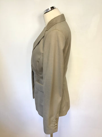 BRAND NEW LK BENNETT EX SAMPLE TAUPE SUIT JACKET SIZE 10