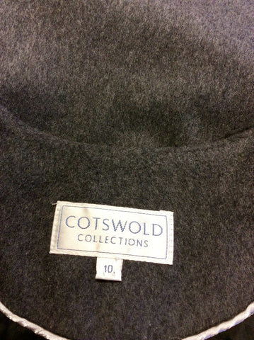 COTSWOLD COLLECTIONS GREY WOOL & CASHMERE BLEND GILET SIZE 10