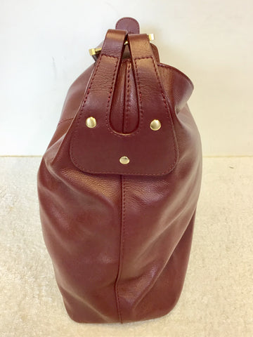RADLEY CHESTNUT BROWN LARGE LEATHER SHOULDER BAG