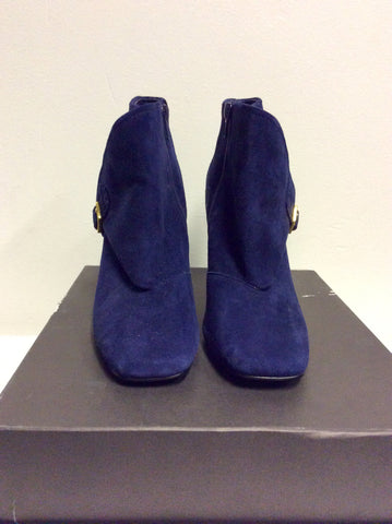 BRAND NEW MARKS & SPENCER AUTOGRAPH DARK BLUE SUEDE ANKLE BOOTS SIZE 5/38