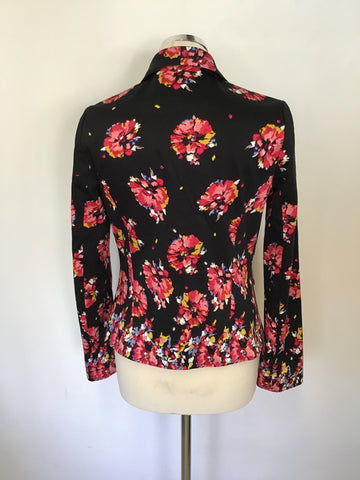 BRAND NEW FENN WRIGHT MANSON BLACK FLORAL PRINT JACKET SIZE 10