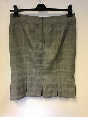 HOBBS GREY PRINCE OF WALES CHECK JACKET & SKIRT SUIT SIZE 10/12