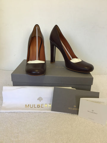 BRAND NEW MULBERRY PHILIPPA OXBLOOD LEATHER HEELS SIZE 7/40