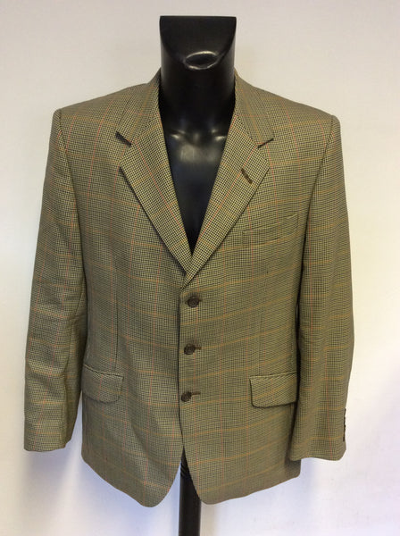 BRAND NEW HACKETT HILSMERE 1 BEIGE CHECK WOOL JACKET SIZE 40R
