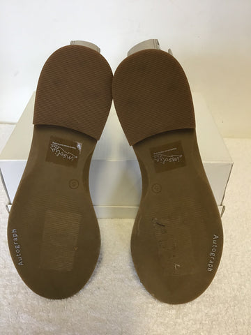 BRAND NEW MARKS & SPENCER AUTOGRAPH GREY JEWEL TRIM LEATHER FLAT SANDALS SIZE 5/38