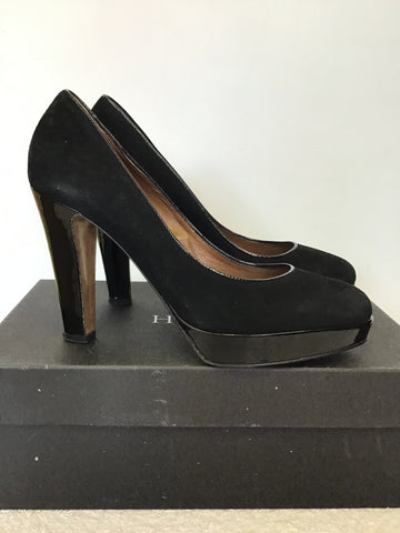 HOBBS BLAISE BLACK SUEDE PLATFORM COURT SHOES SIZE 7/40