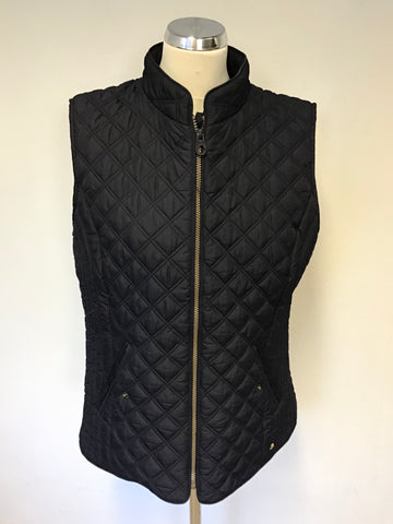 JOULES MINX DARK BLUE ZIP UP LIGHT WEIGHT QUILTED GILET SIZE 16