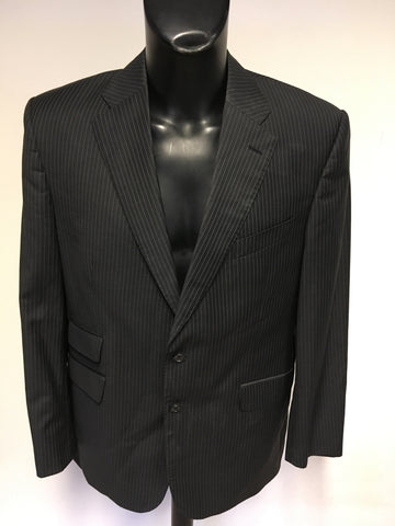 MARKS & SPENCER SARTORIAL CHARCOAL PINSTRIPE WOOL BLEND SUIT SIZE 42