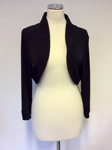 BRAND NEW GINA BACCONI BLACK BOLERO JACKET/TOP  SIZE 20