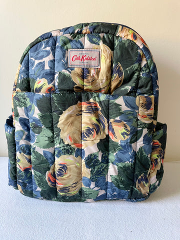 CATH KIDSTON FLORAL PRINT HIGH TOP CANVAS PLIMSOLS & MATCHING BACK PACK