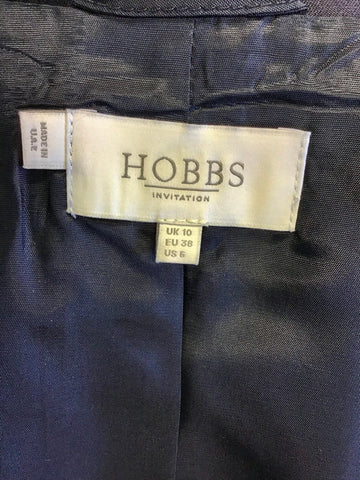 HOBBS INVITATION NAVY BLUE SPECIAL OCCASION DRESS SUIT WITH HATINATOR SIZE 10