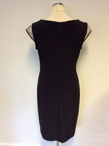 JOSEPH RIBKOFF BLACK & PINK PENCIL DRESS SIZE 14