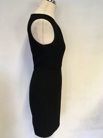 LK BENNETT BLACK JELICA PENCIL DRESS SIZE 8