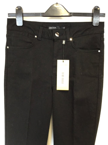 BRAND NEW KAREN MILLEN BLACK STRETCH BOOT LEG JEANS SIZE 10