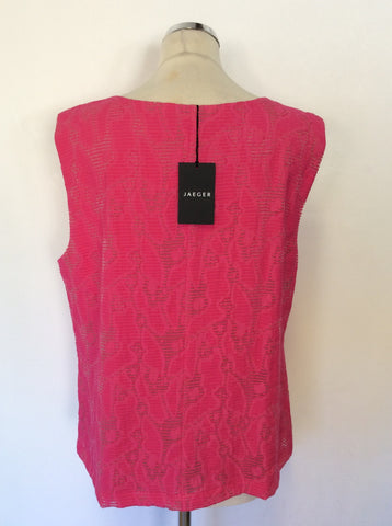 BRAND NEW JAEGER FUSHIA PINK SLEEVELESS TOP SIZE 18