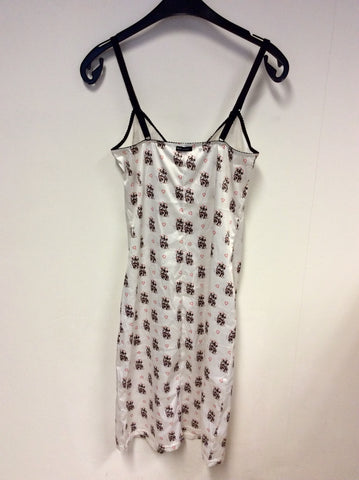 BRAND NEW DOLCE & GABBANA DISNEY PRINT SATIN SLIP DRESS SIZE M