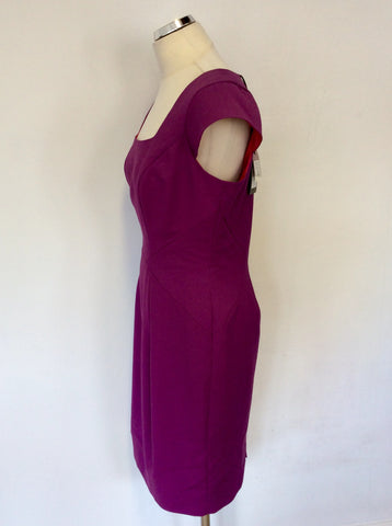 BRAND NEW COAST MARGOT PURPLE CAP SLEEVE PENCIL DRESS SIZE 14