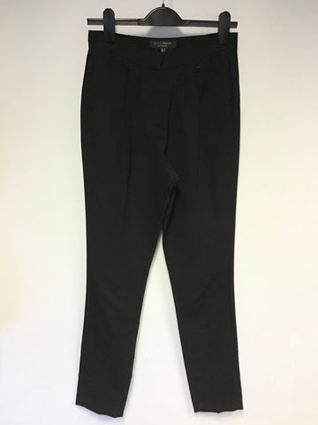NEW LK BENNETT BLACK RIBBON OXFORD BLACK HIGH RISE TROUSERS SIZE 8