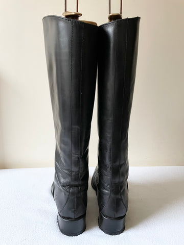 HOBBS BLACK LEATHER KNEE LENGTH BOOTS SIZE 5.5/38.5