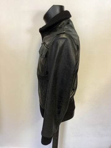 FULL CIRCLE MAKOZI BLACK LEATHER JACKET SIZE M