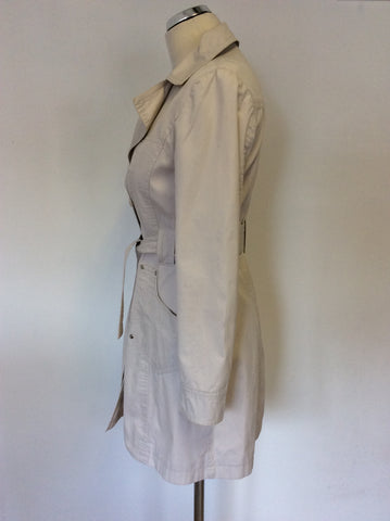 DOLCE & GABBANA NATURAL BELTED SPRING / SUMMER TRENCHCOAT MAC SIZE M