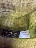 BETH MORGAN DARK FOREST GREEN FLOWER TRIM FORMAL HAT