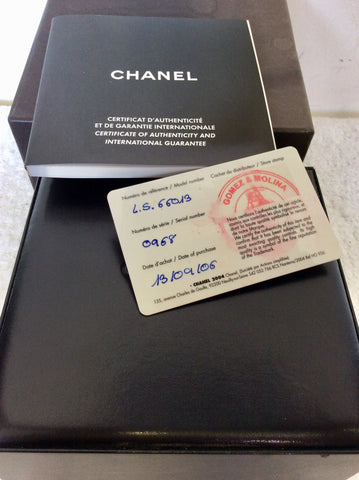 CHANEL J12 WHITE CERAMIC BRACELET WATCH BOXED WITH AUTHENTICITY CARD
