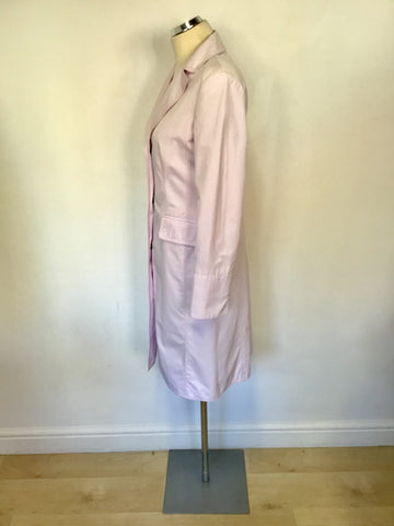 HUGO BOSS PALE PINK KNEE LENGTH MAC SIZE 10