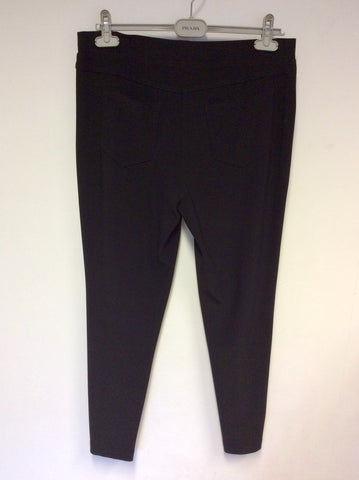 BRAND NEW JOSEPH RIBKOFF BLACK STRETCH ZIP ANKLE TROUSERS SIZE 16