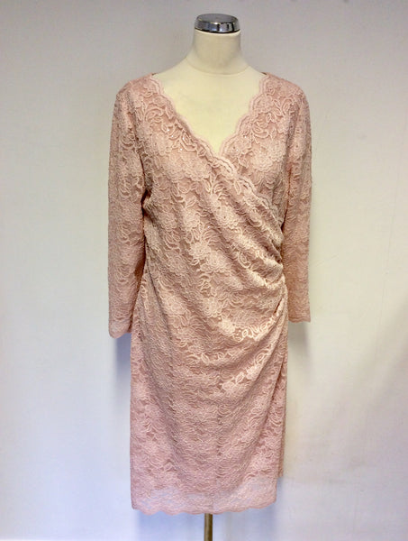 BRAND NEW GINA BACCONI PINK LACE SPECIAL OCCASION DRESS SIZE 18