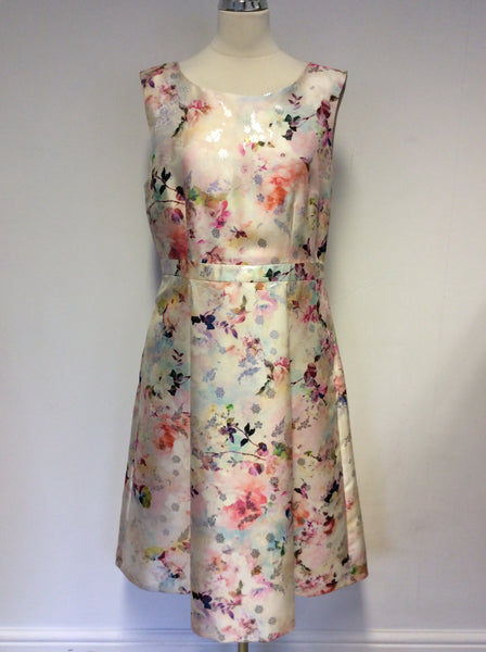 BRAND NEW GINA BACCONI FLORAL PRINT SPECIAL OCCASION DRESS SIZE 20