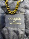 COUSINS OF CHELTENHAM GREEN & BLUE CHECK PURE NEW WOOL COUNTRY JACKET SIZE M