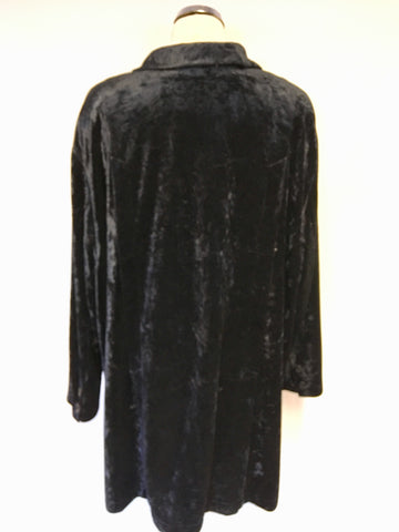 WILLE BLACK VELVET LONLINE JACKET SIZE 20