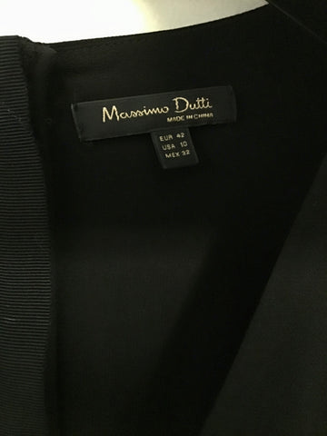 BRAND NEW MASSIMO DUTTI BLACK SHORT SLEEVE WRAP ACROSS TOP JUMPSUIT SIZE 14
