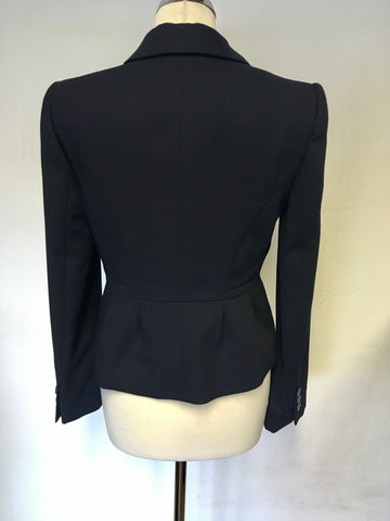 HOBBS NAVY BLUE WOOL JACKET SIZE 10