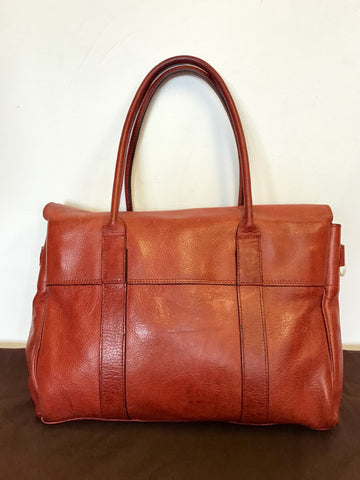 MULBERRY BAYSWATER LARGE LIPSTICK LEATHER TOTE BAG