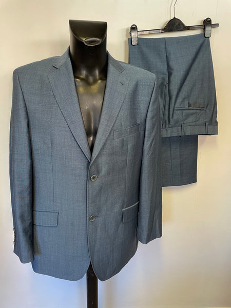TED BAKER ENDURANCE BLUE WOOL & MOHAIR BLEND SUIT SIZE 44 / 36W / 31L