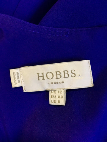 HOBBS PURPLE SLEEVELESS PENCIL DRESS SIZE 12